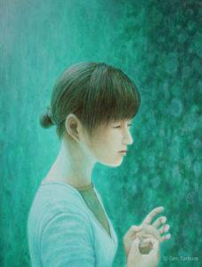 アクリル画 タムラゲン ( タムラ・ゲン ) 田村元 画家 リキテックス acrylic painting Gen Tamura painter Liquitex artist Japan