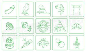 年賀状 素材 ストックイラスト PIXTA イラスト : タムラゲン(田村元)
