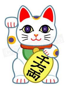 招き猫 年賀状 素材 ストックイラスト PIXTA イラスト : タムラゲン(田村元)